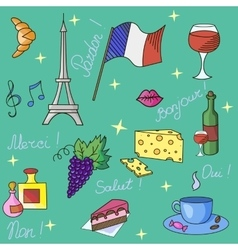 French symbols pattern vector image