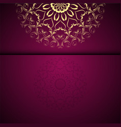 gold oriental arabesque pattern background with vector image