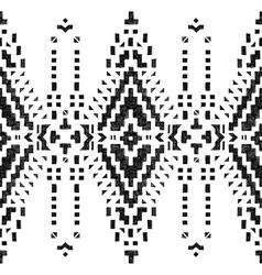 Hand drawn tribal seamless border vector