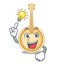 have an idea miniature banjo in the cartoon shapes vector image