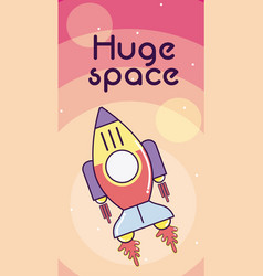 huge space card vector image