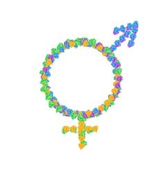 Intersex symbol icons vector