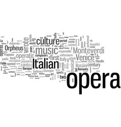 Italy the mother opera vector