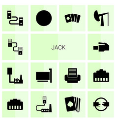Jack icons vector