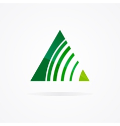 logo with a combination triangle and signal vector image