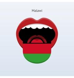 Malawi language abstract human tongue vector