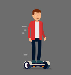 Man on his hoverboard vector