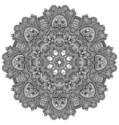 mandala circle decorative spiritual indian symbol vector image