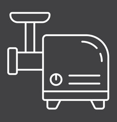 Meat grinder line icon household and appliance vector