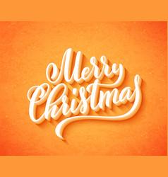 merry christmas handwritten lettering lettering vector image