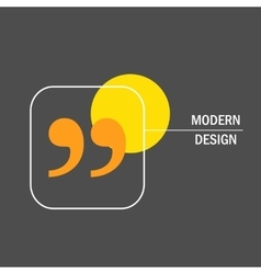 Modern design with quote text bubble vector image