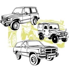 Off-Road Cars - set vector image