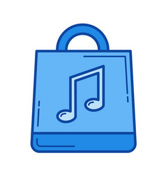 online music store line icon vector image