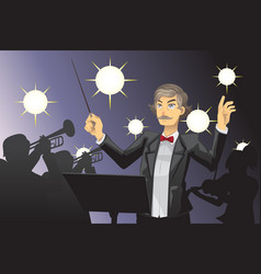 Orchestra conductor vector