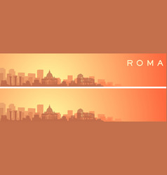 rome beautiful skyline scenery banner vector image