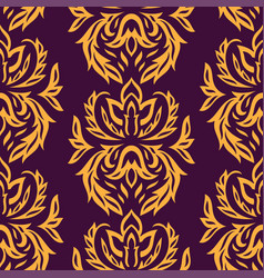 seamless textile pattern vector image