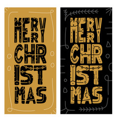 set christmas giveaway cards with handwritten vector image