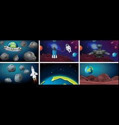 set space scenes vector image