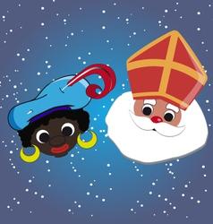 Sint en Piet vector image