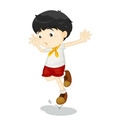 Small child jumping vector image