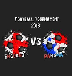 Soccer game england vs panama vector