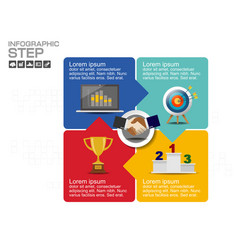 Step and timeline infographic templates for busine vector