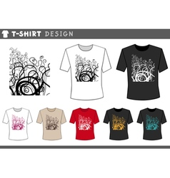 T shirt floral design vector