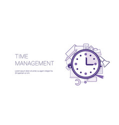 time management web banner with copy space vector image
