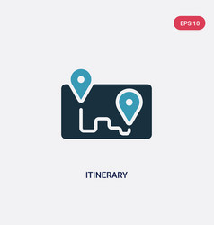 Two color itinerary icon from travel concept vector