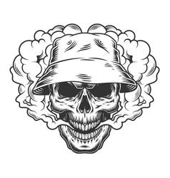 Vaper skull concept vector
