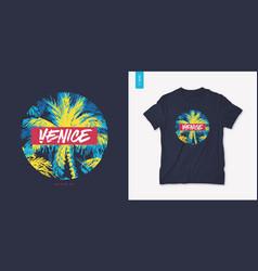 venice beach california graphic tee design vector image