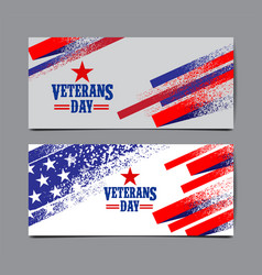 Veterans day background usa flag abstract vector