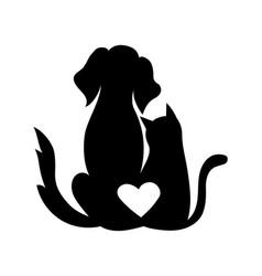 Veterinary logo for pet shop vector