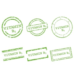 Vitamin B3 stamps vector image