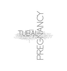 What you need to know about tubal pregnancy text vector