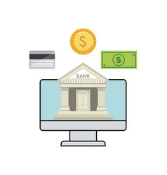 bank and money design vector image