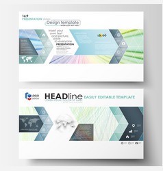 business templates in hd format for presentation vector image vector image