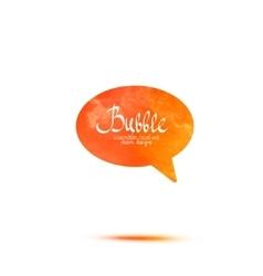 Colorful watercolor speech bubble vector image