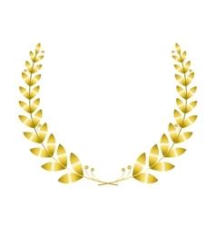 Golgen laurel wreath vector image