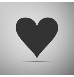 Heart icon on grey background Adobe vector image