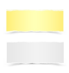 yellow and white pieces of paper vector image vector image
