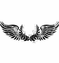 Army laurel emblem vector
