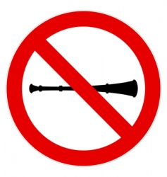 no vuvuzela sign vector image vector image