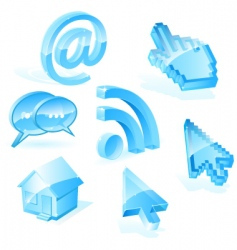 web symbols vector image vector image