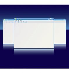 browser windows vector image vector image