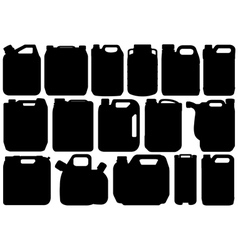 Different types of canisters vector image vector image