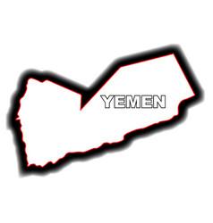 outline map of yemen vector image vector image