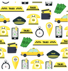 taxi transportation service background pattern vector image vector image