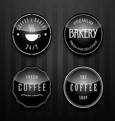 coffee badge vector image