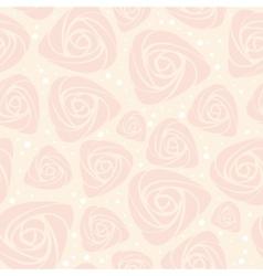 floral rose pattern vector image vector image